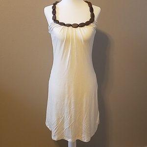 White Halter Tube Dress